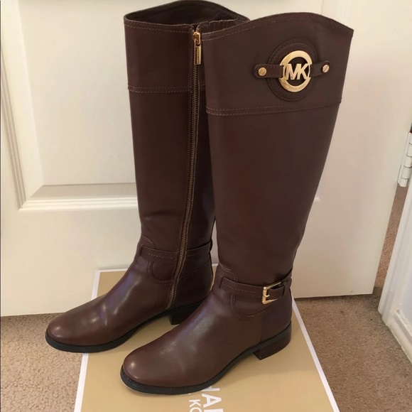 Michael Kors Shoes | Brown Riding Boots